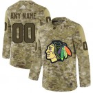 Women's Chicago Blackhawks Customized Camo Fashion Authentic Jersey