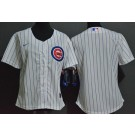 Women's Chicago Cubs Blank White Cool Base Jersey