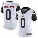 Women's Cincinnati Bengals Customized Limited White Rush Color Jersey
