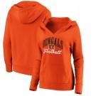 Women's Cincinnati Bengals Orange Victory Script V Neck Pullover Hoodie