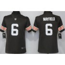 Women's Cleveland Browns #6 Baker Mayfield Limited Brown 2020 Vapor Untouchable Jersey