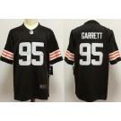 Women's Cleveland Browns #95 Myles Garrett Limited Brown 2020 Vapor Untouchable Jersey