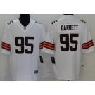 Women's Cleveland Browns #95 Myles Garrett Limited White 2020 Vapor Untouchable Jersey