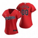 Women's Cleveland Indians Customized Red Alternate 2020 Cool Base Jersey