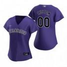 Women's Colorado Rockies Customized Purple Alternate 2020 Cool Base Jersey