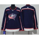 Women's Columbus Blue Jackets Blank Navy Jersey