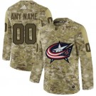 Women's Columbus Blue Jackets Customized Camo Fashion Authentic Jersey
