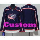 Women's Columbus Blue Jackets Customized Navy Blue Authentic Jersey