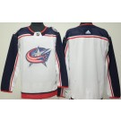 Women's Columbus Blue Jackets Customized White Authentic Jersey