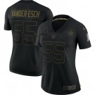 Women's Dallas Cowboys #55 Leighton Vander Esch Limited Black 2020 Salute To Service Jersey