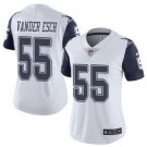 Women's Dallas Cowboys #55 Leighton Vander Esch Limited White Rush Color Jersey