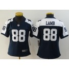 Women's Dallas Cowboys #88 CeeDee Lamb Limited Navy Alternate Vapor Untouchable Jersey