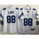 Women's Dallas Cowboys #88 CeeDee Lamb Limited White Vapor Untouchable Jersey
