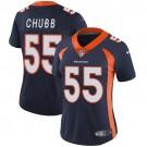 Women's Denver Broncos #55 Bradley Chubb Limited Navy Vapor Untouchable Jersey