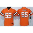 Women's Denver Broncos #55 Bradley Chubb Limited Orange Rush Jersey