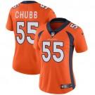 Women's Denver Broncos #55 Bradley Chubb Limited Orange Vapor Untouchable Jersey