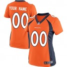Women's Denver Broncos Customized Game Orange Jersey