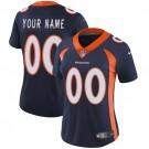 Women's Denver Broncos Customized Limited Blue Vapor Untouchable Jersey