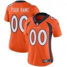 Women's Denver Broncos Customized Limited Orange Vapor Untouchable Jersey