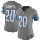 Women's Detroit Lions #20 Barry Sanders Limited Gray Vapor Untouchable Jersey