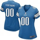 Women's Detroit Lions Customized Game Blue Jersey