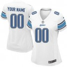 Women's Detroit Lions Customized Game White Jersey