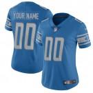 Women's Detroit Lions Customized Limited Blue Vapor Untouchable Jersey
