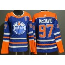Women's Edmonton Oilers #97 Connor McDavid Blue Alternate Jersey