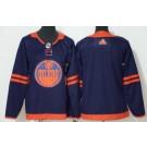 Women's Edmonton Oilers Blank Navy 50th Anniversary Authentic Jersey