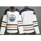 Women's Edmonton Oilers Blank White Jersey