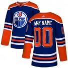 Women's Edmonton Oilers Customized Blue Alternate Authentic Jersey