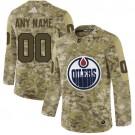 Women's Edmonton Oilers Customized Camo Fashion Authentic Jersey