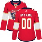 Women's Florida Panthers Customized Red Authentic Jersey