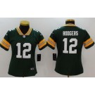 Women's Green Bay Packers #12 Aaron Rodgers Limited Green Vapor Untouchable Jersey