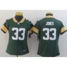 Women's Green Bay Packers #33 Aaron Jones Limited Green Vapor Untouchable Jersey