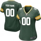 Women's Green Bay Packers Customized Game Green Jersey
