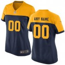 Women's Green Bay Packers Customized Game Navy Yellow Jersey