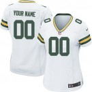 Women's Green Bay Packers Customized Game White Jersey