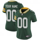 Women's Green Bay Packers Customized Limited Green Vapor Untouchable Jersey