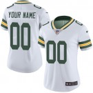 Women's Green Bay Packers Customized Limited White Vapor Untouchable Jersey
