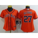 Women's Houston Astros #27 Jose Altuve Orange 2020 Cool Base Jersey
