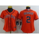 Women's Houston Astros #2 Alex Bregman Orange 2020 Cool Base Jersey