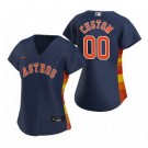 Women's Houston Astros Customized Navy Alternate 2020 Cool Base Jersey