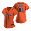 Women's Houston Astros Customized Orange Alternate 2020 Cool Base Jersey