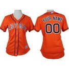 Women's Houston Astros Customized Orange Cool Base Jersey