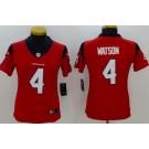 Women's Houston Texans #4 Deshaun Watson Limited Red Vapor Untouchable Jersey