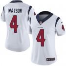 Women's Houston Texans #4 Deshaun Watson Limited White Vapor Untouchable Jersey
