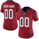 Women's Houston Texans Customized Limited Red Vapor Untouchable Jersey