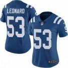 Women's Indianapolis Colts #53 Darius Leonard Limited Blue Vapor Untouchable Jersey