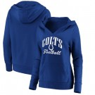 Women's Indianapolis Colts Blue Victory Script V Neck Pullover Hoodie